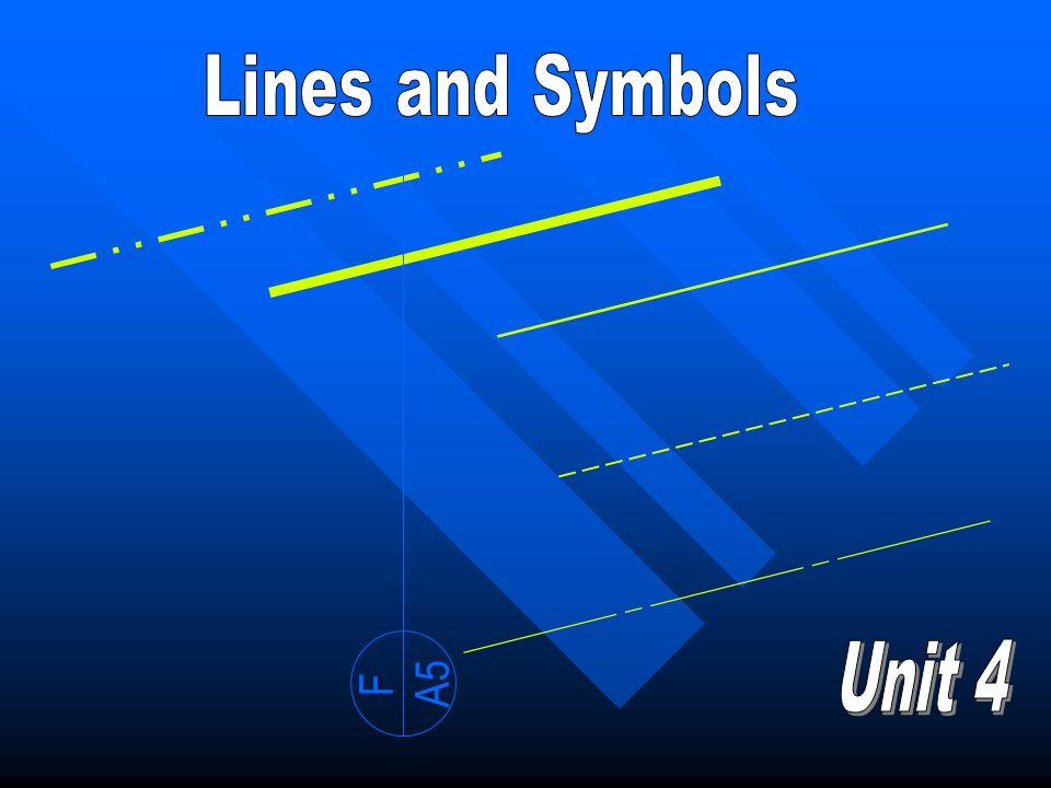 Lines and Symbols F A5 Unit 4