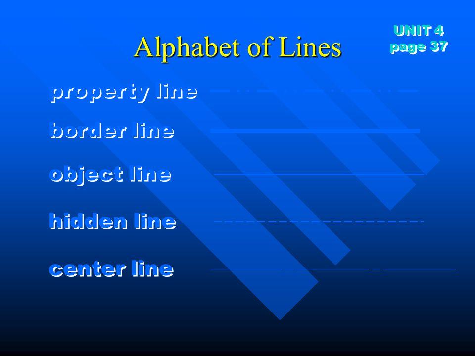 Alphabet of Lines property line border line object line hidden line