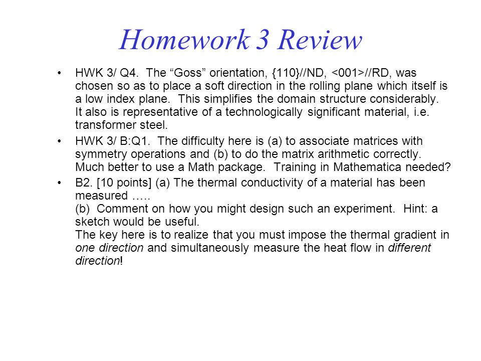 Homework 3 Review