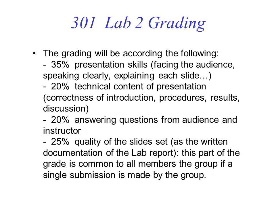 301 Lab 2 Grading