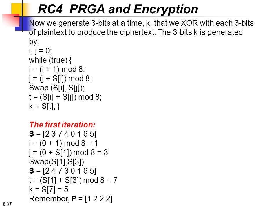 RC4 PRGA and Encryption