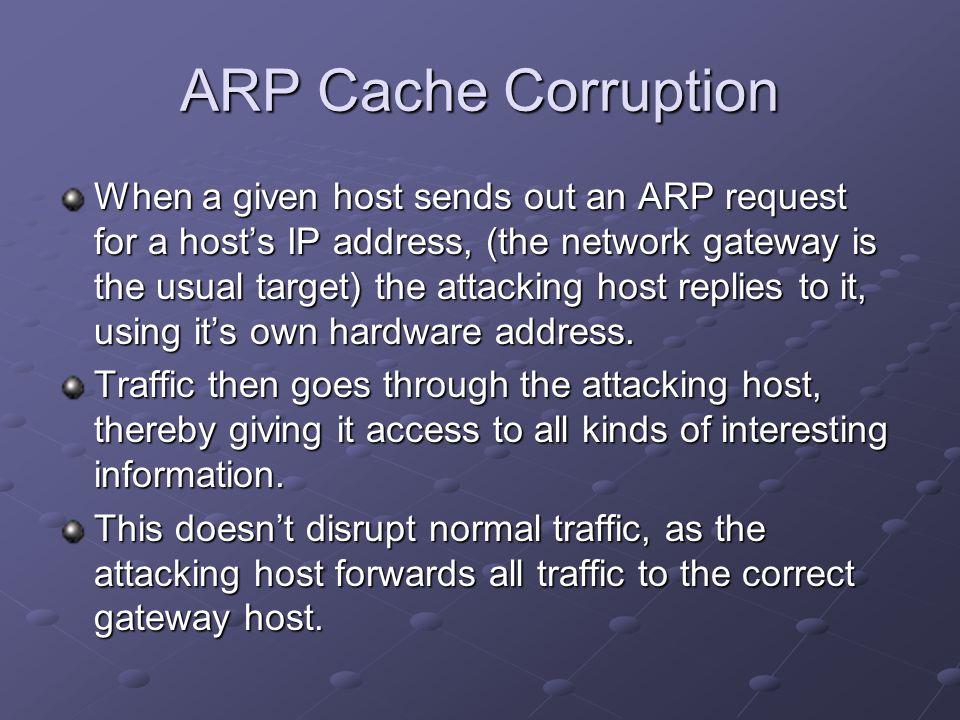 ARP Cache Corruption
