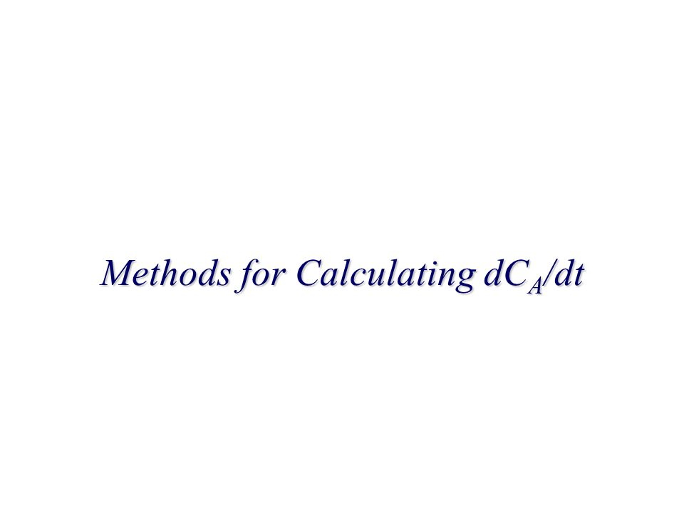 Methods for Calculating dCA/dt