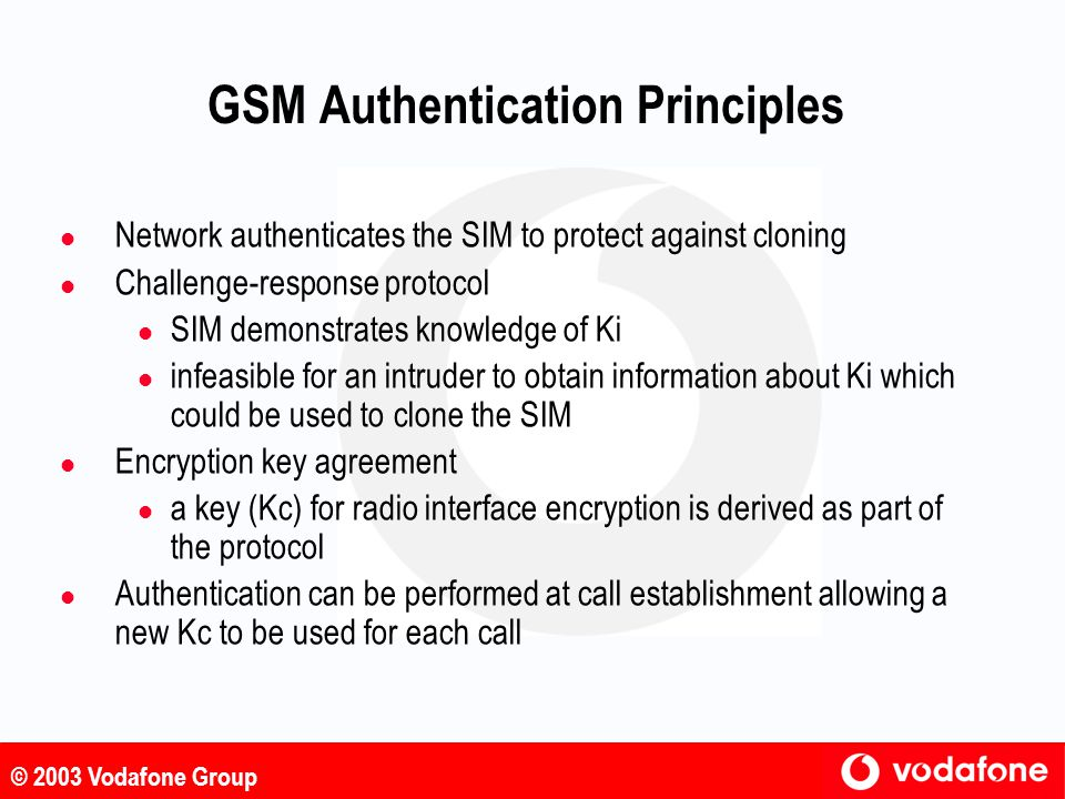 GSM Authentication Principles