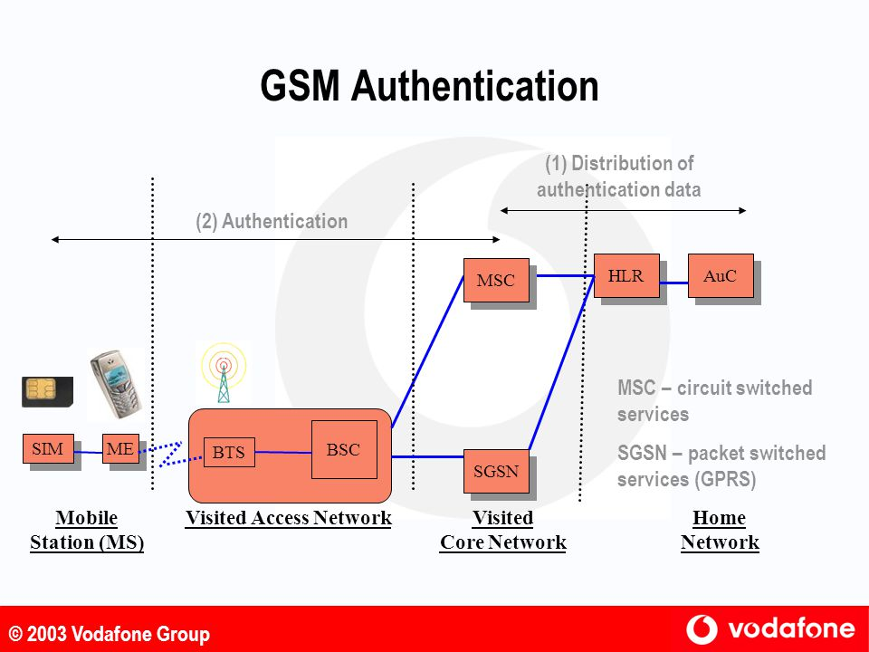 (1) Distribution of authentication data Visited Access Network