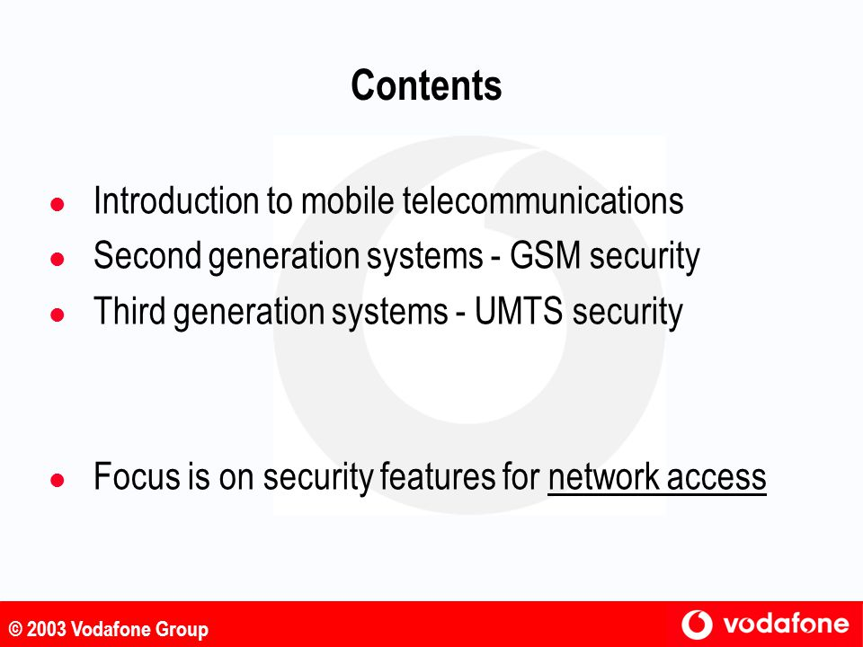 Contents Introduction to mobile telecommunications