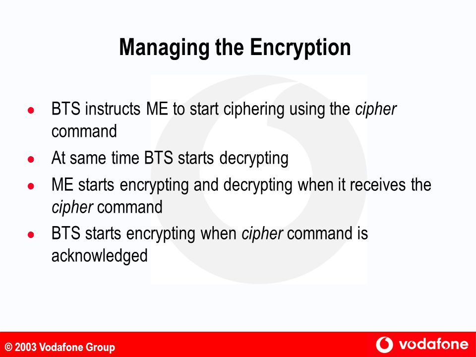 Managing the Encryption