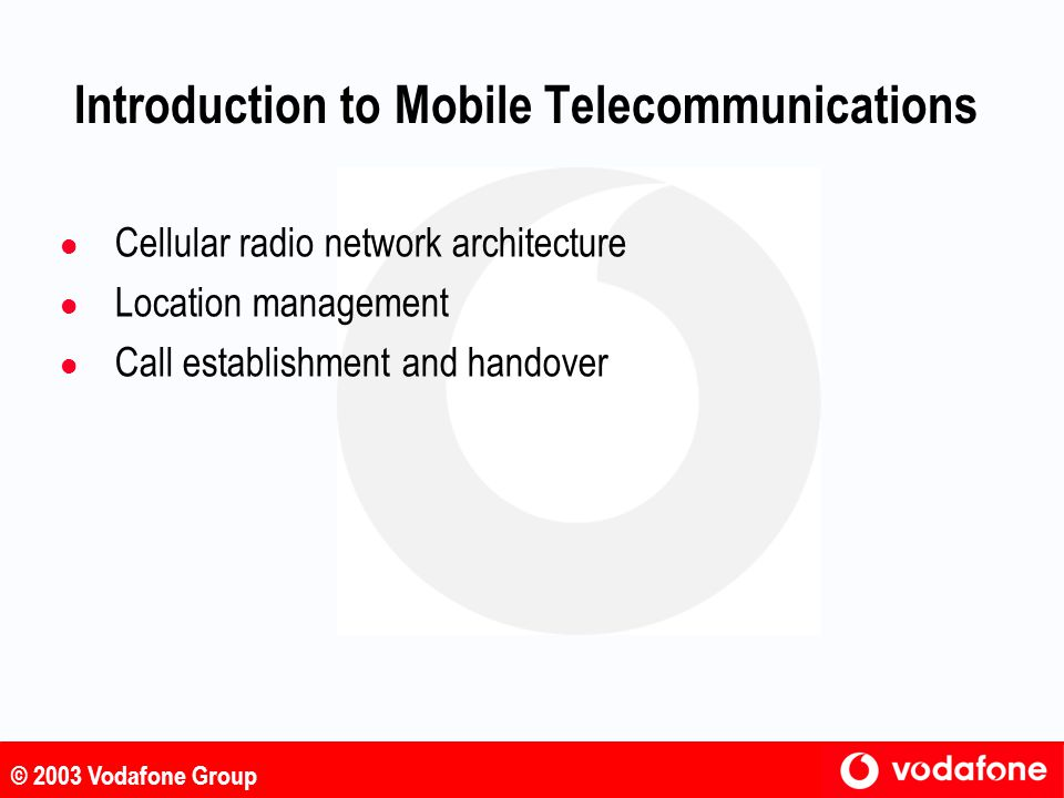 Introduction to Mobile Telecommunications