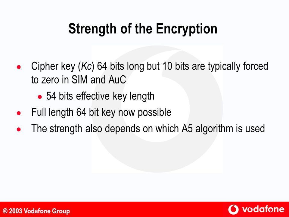 Strength of the Encryption