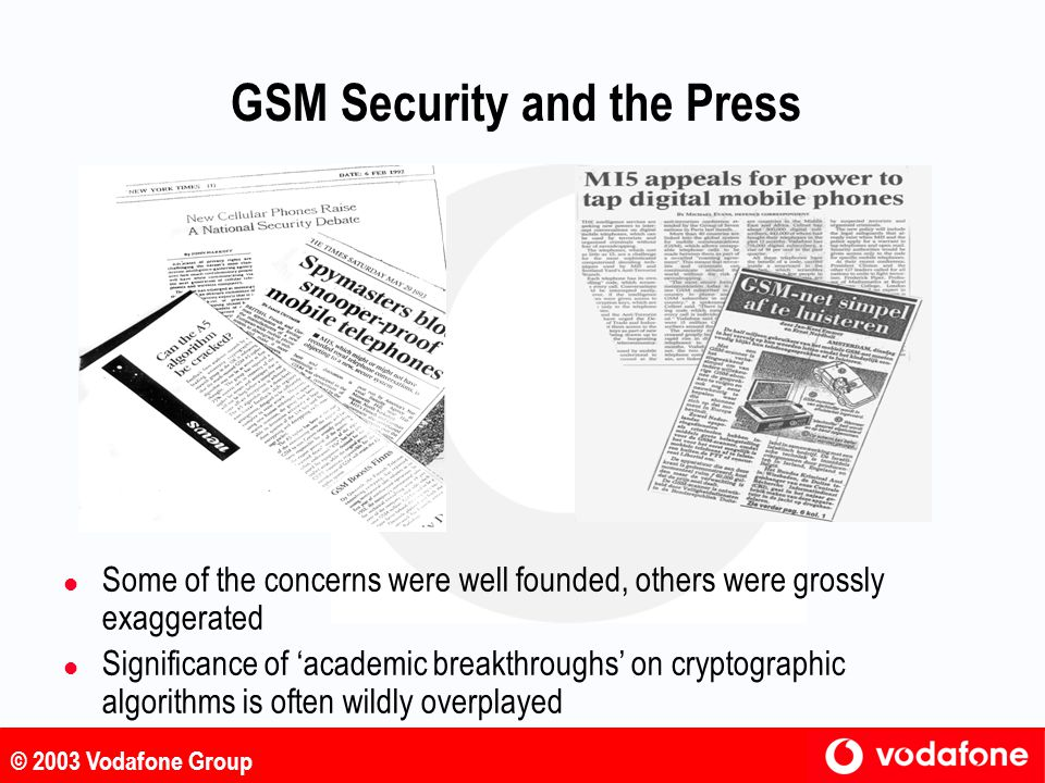 GSM Security and the Press