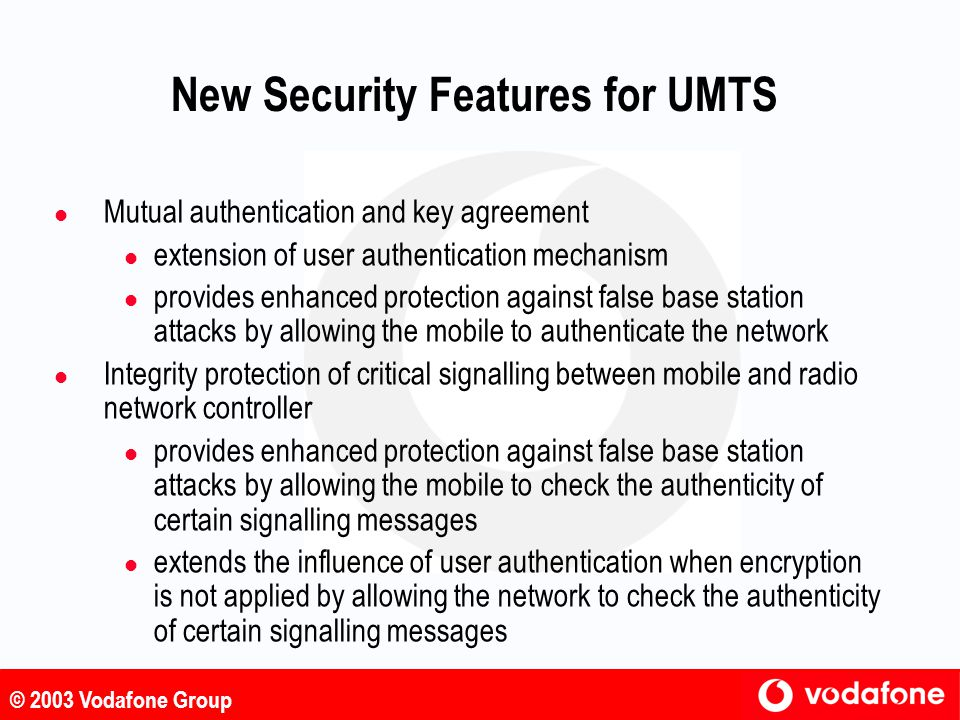 New Security Features for UMTS