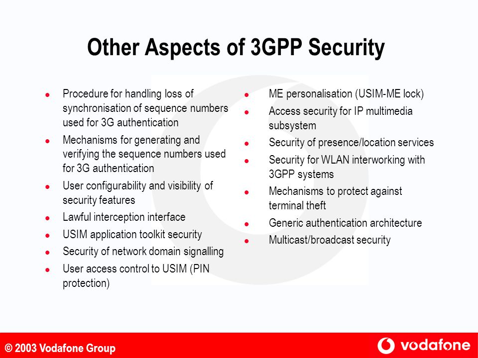 Other Aspects of 3GPP Security