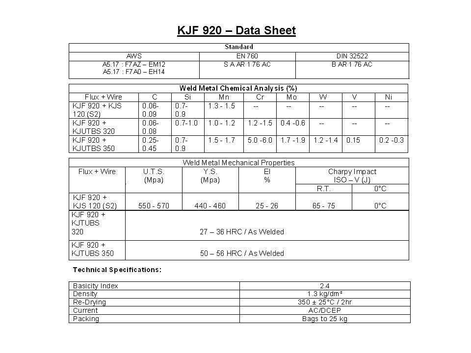KJF 920 – Data Sheet