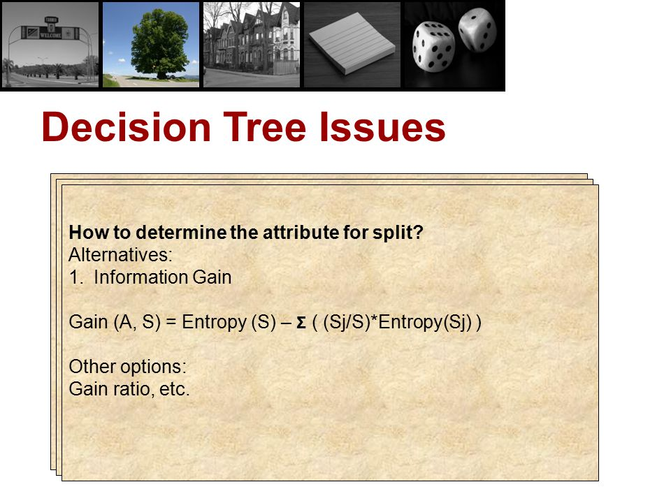 Decision Tree Issues How to avoid overfitting
