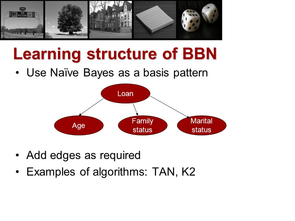 Learning structure of BBN