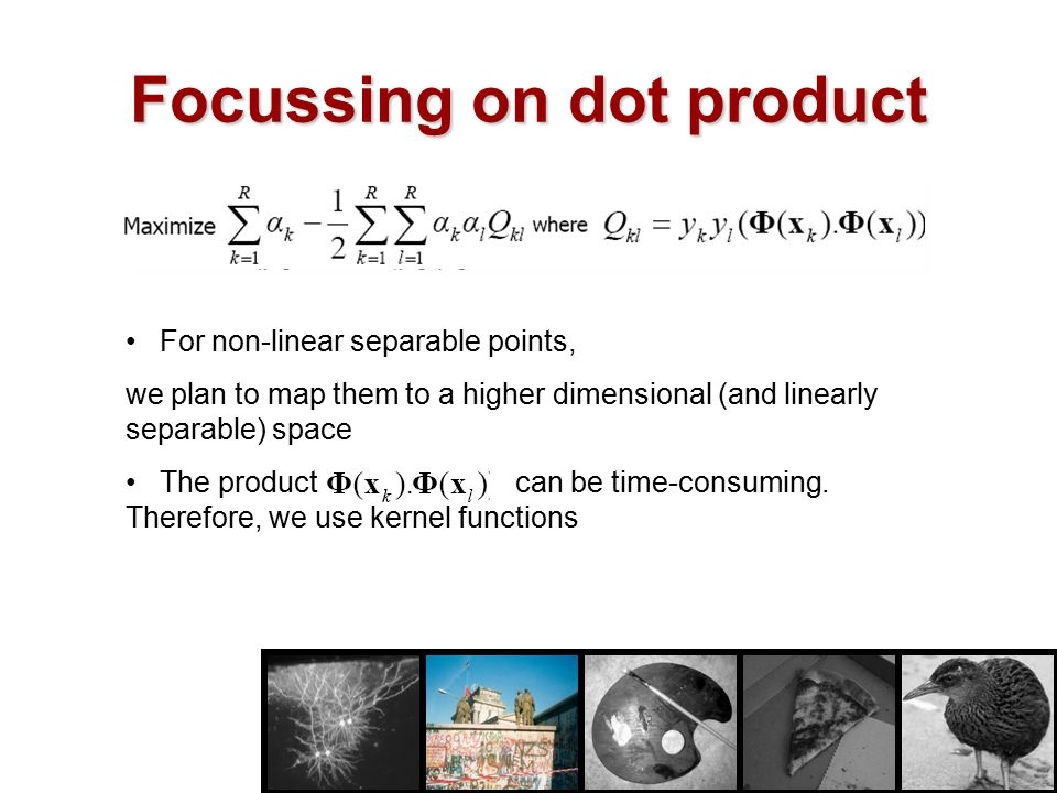 Focussing on dot product