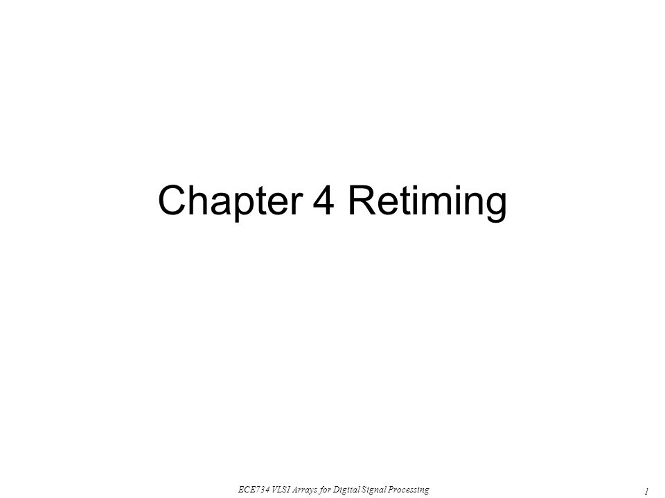 Chapter 4 Retiming
