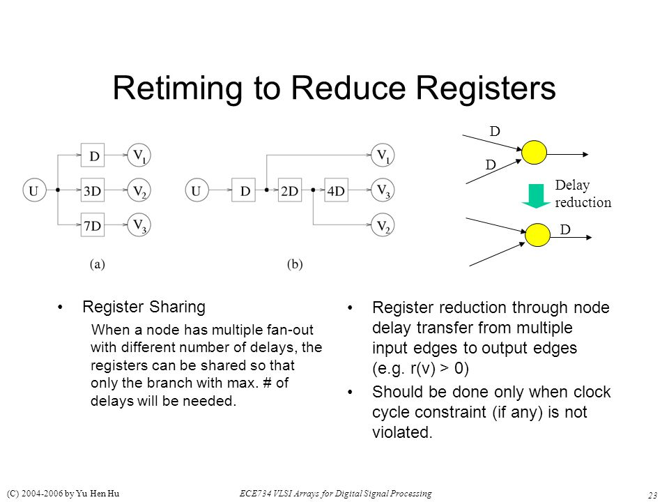 Retiming to Reduce Registers
