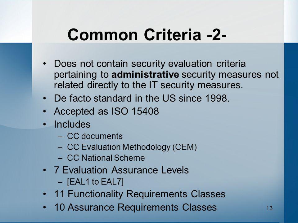 Common Criteria -2-