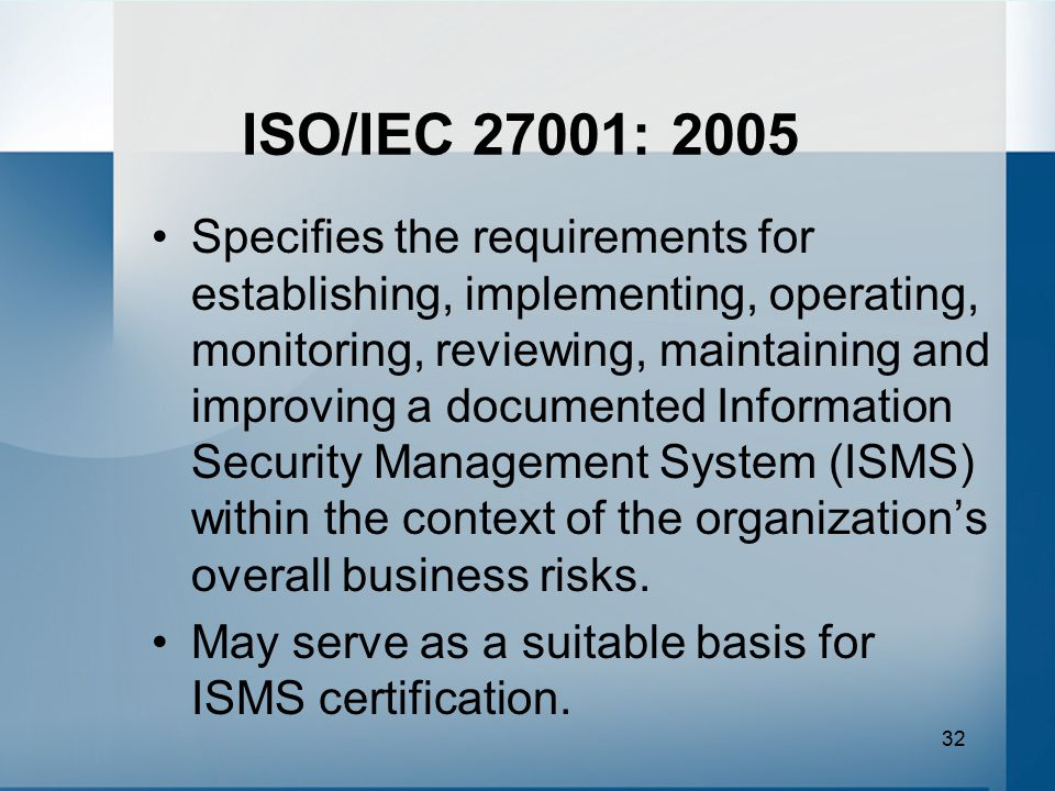 ISO/IEC 27001: 2005