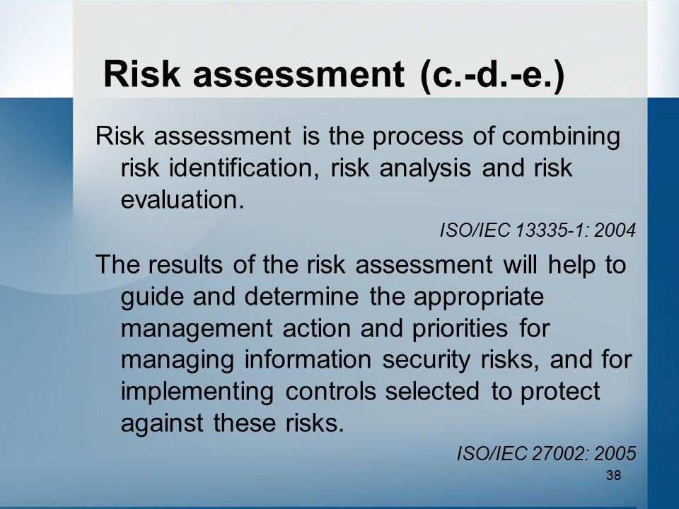 Risk Management & Information Security Management Systems