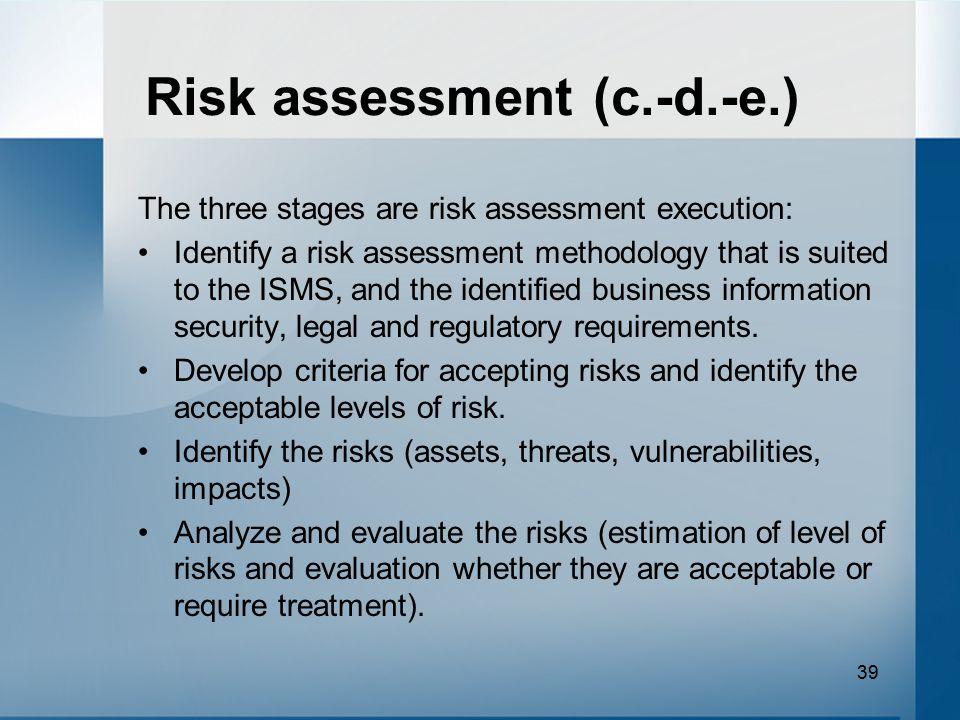Risk assessment (c.-d.-e.)