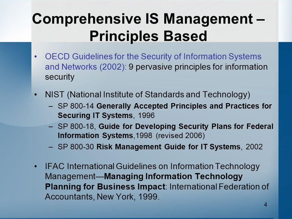 Comprehensive IS Management – Principles Based