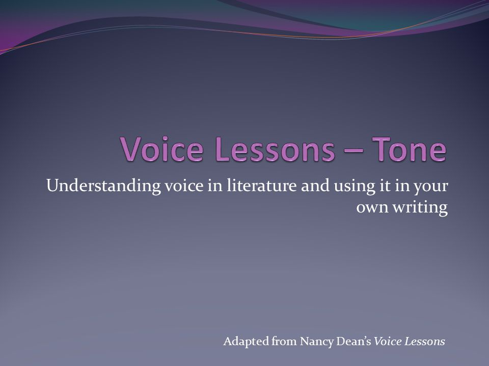 Understanding voice in literature and using it in your own writing