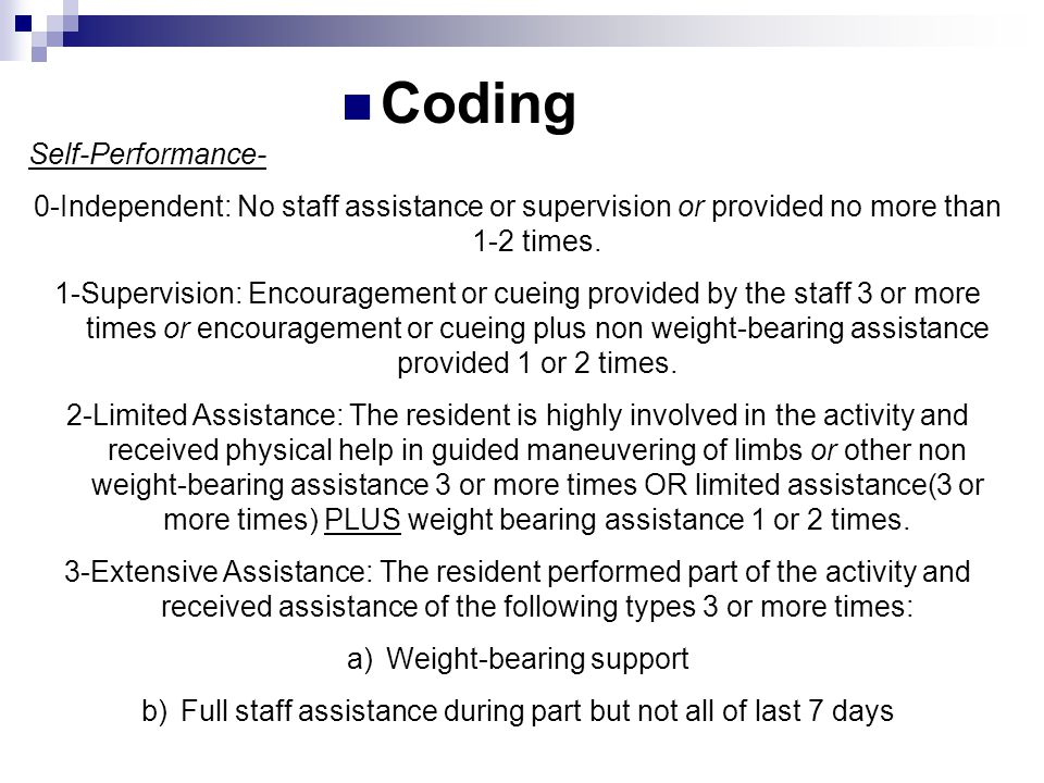 Coding Self-Performance-