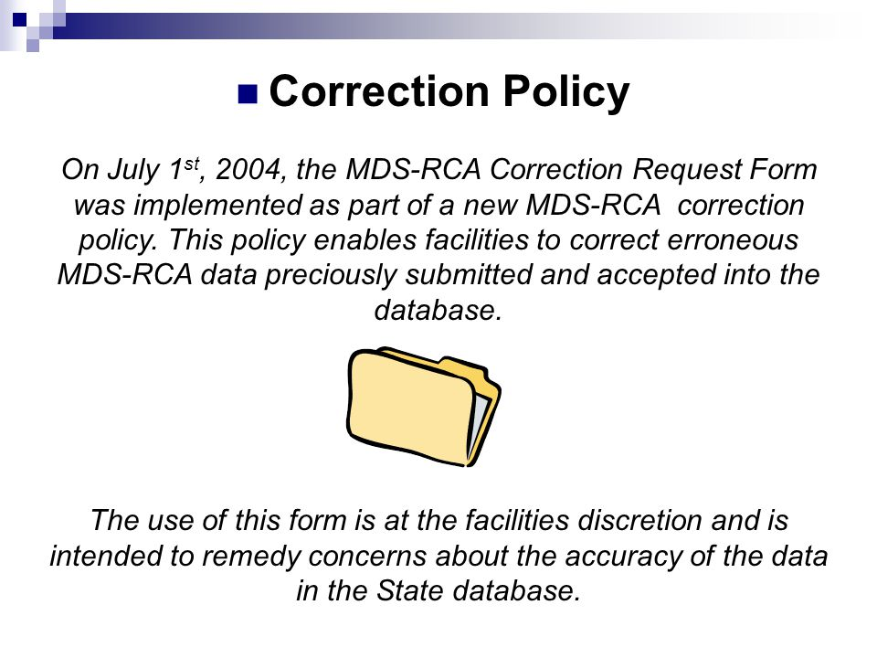 Correction Policy