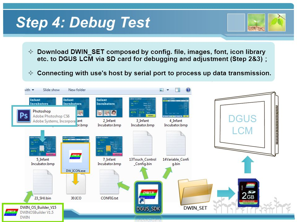 Step 4: Debug Test DGUS LCM