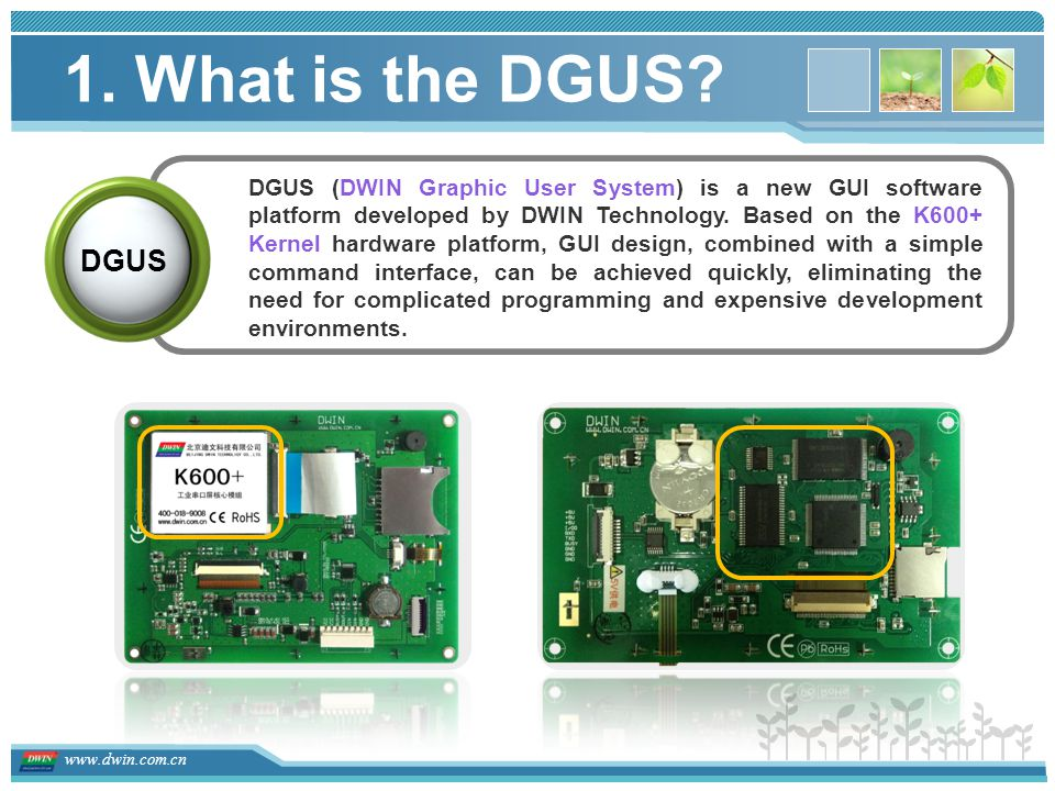 1. What is the DGUS