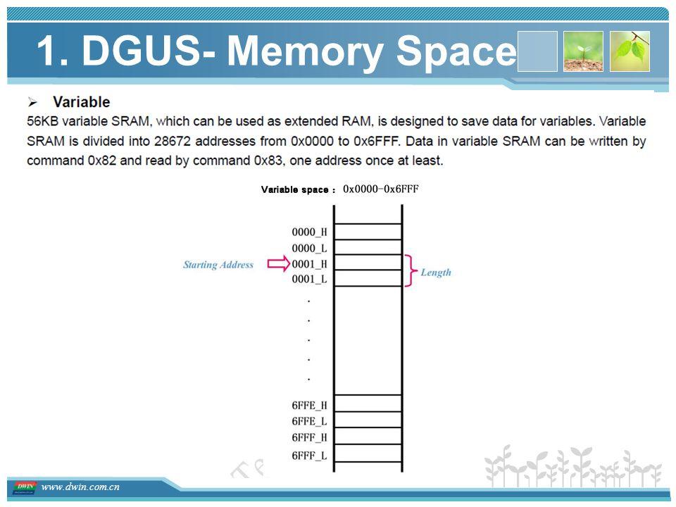 1. DGUS- Memory Space