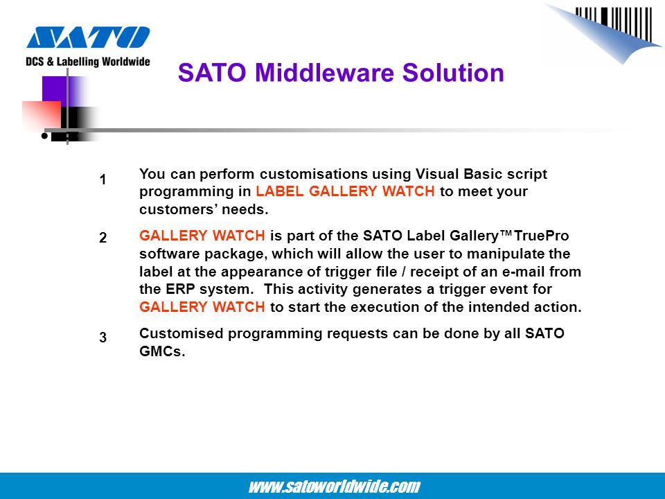 SATO Middleware Solution