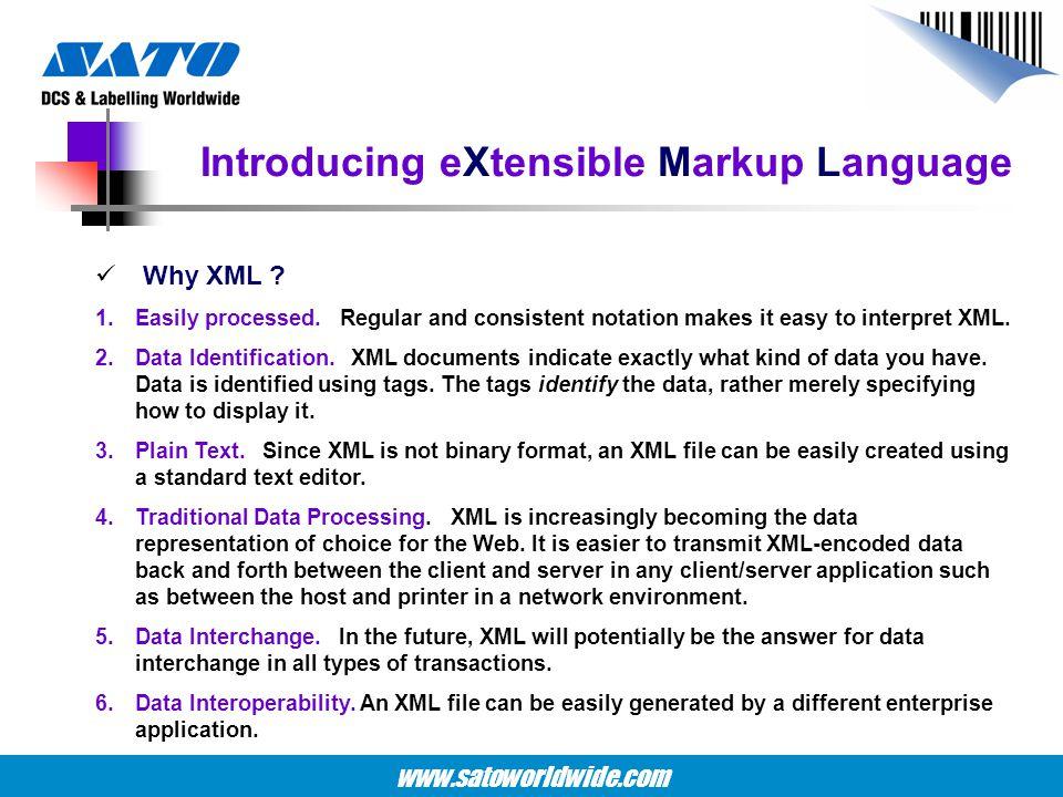 Introducing eXtensible Markup Language