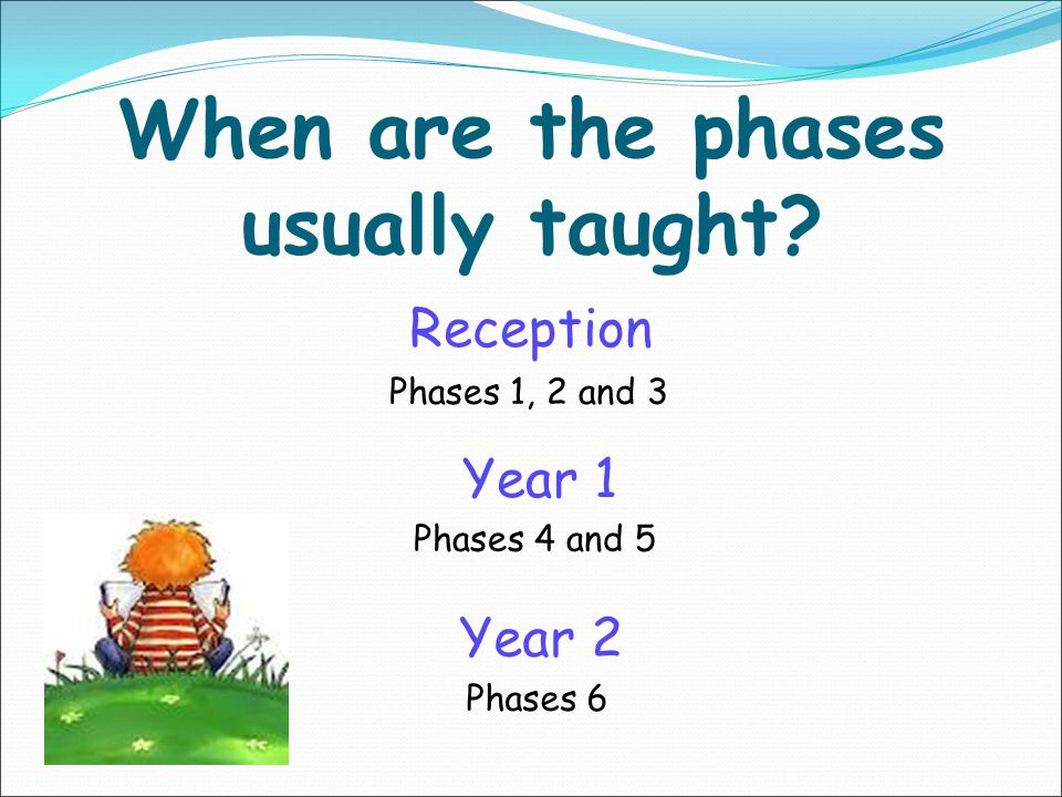 When are the phases usually taught