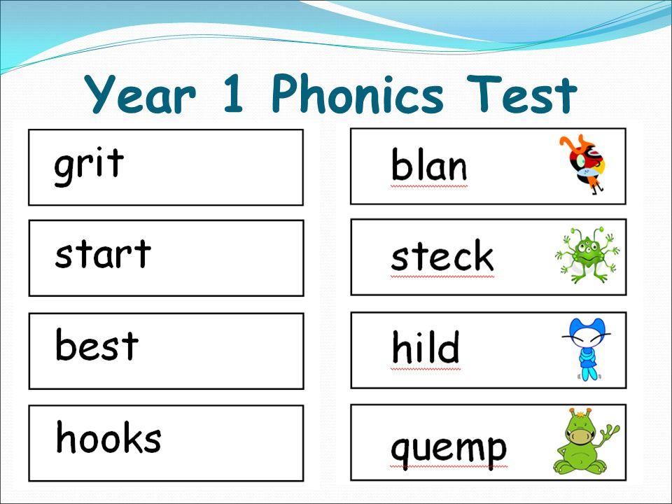 Year 1 Phonics Test