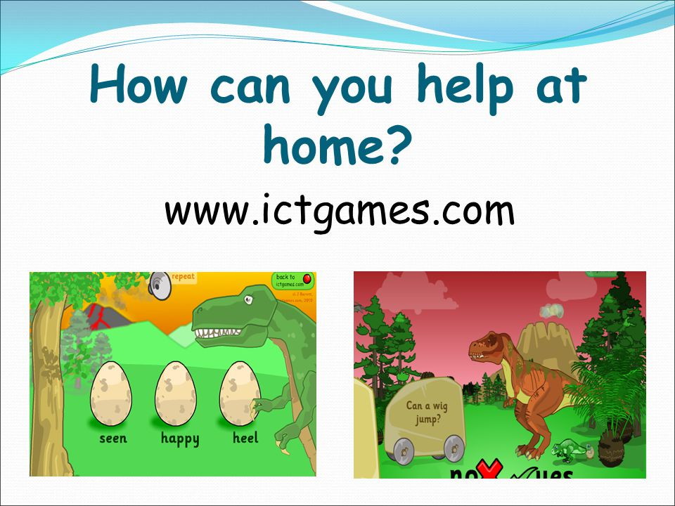 How can you help at home www.ictgames.com