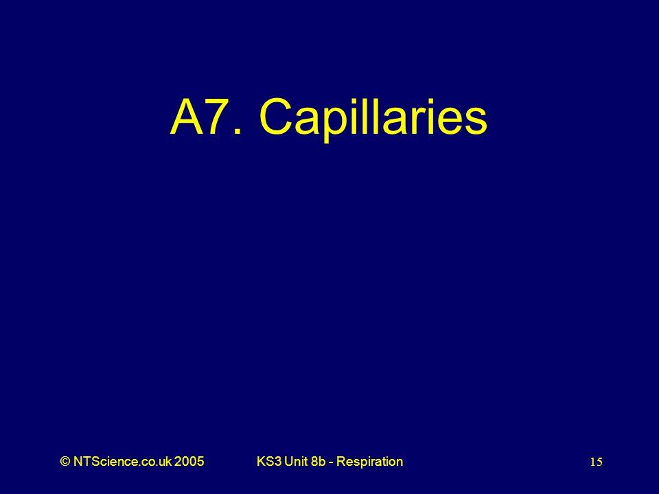 A7. Capillaries KS3 Unit 8b - Respiration