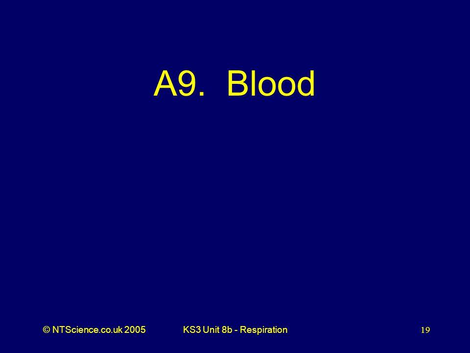 A9. Blood KS3 Unit 8b - Respiration
