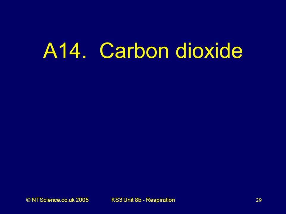 A14. Carbon dioxide KS3 Unit 8b - Respiration