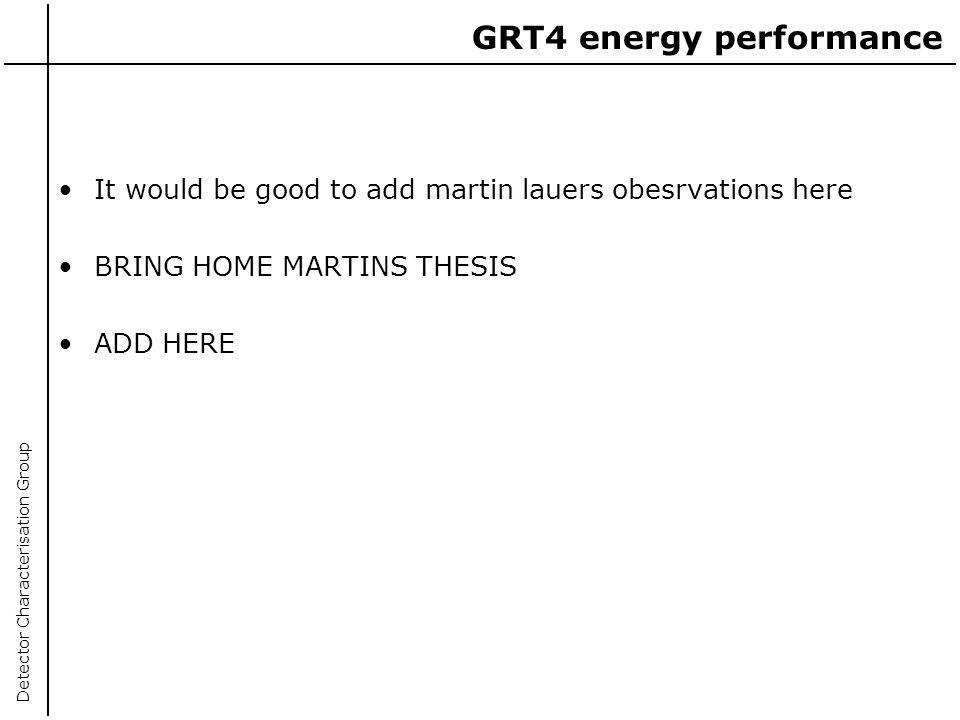 GRT4 energy performance