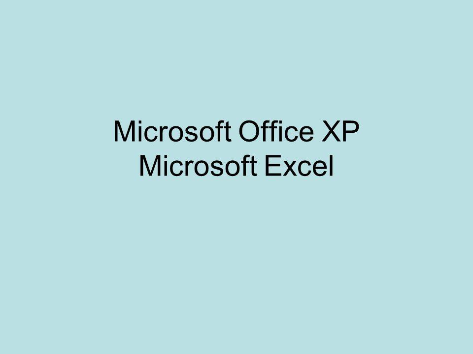 Microsoft Office XP Microsoft Excel