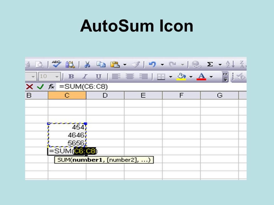 AutoSum Icon