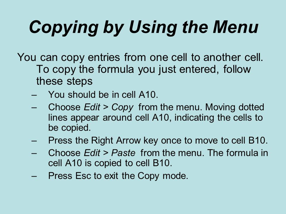 Copying by Using the Menu