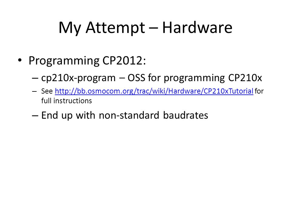 My Attempt – Hardware Programming CP2012: