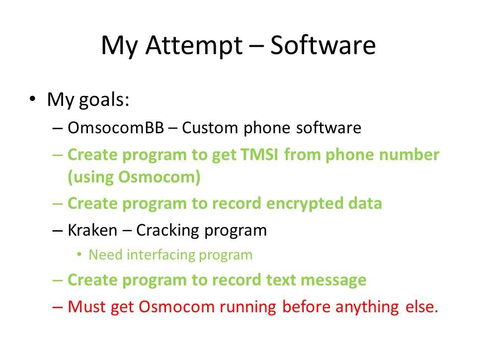 My Attempt – Software My goals: OmsocomBB – Custom phone software
