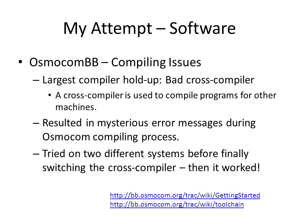 My Attempt – Software OsmocomBB – Compiling Issues