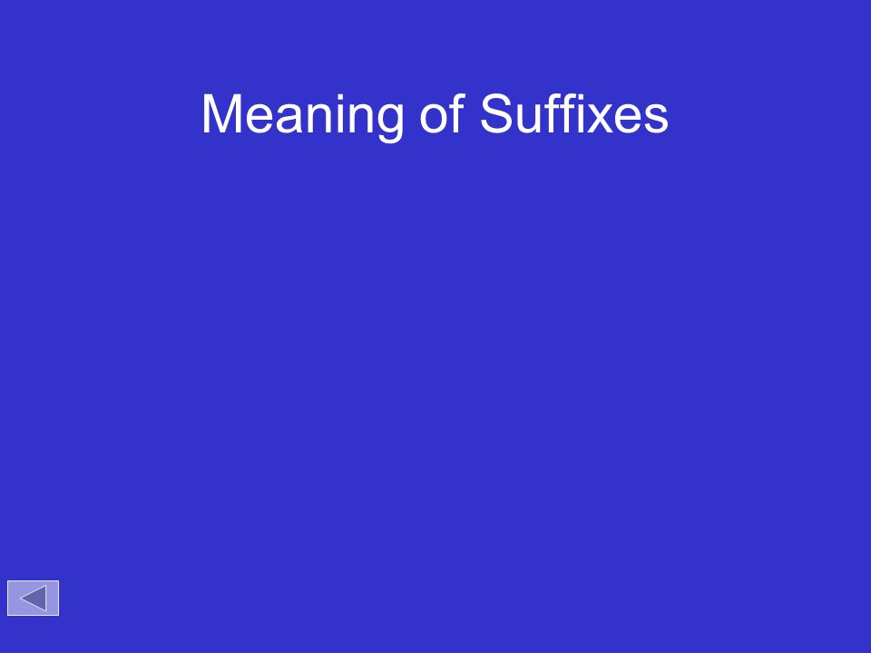Meaning of Suffixes