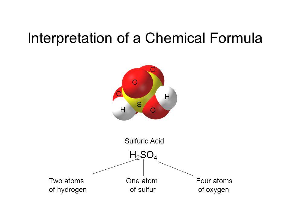 Interpretation of a Chemical Formula